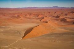 Αμμόλοφος 45 άποψη από τον αέρα, εθνικό πάρκο Namib Naukluft Στοκ Φωτογραφίες