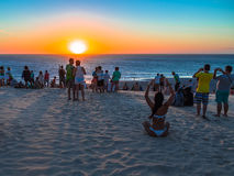 Αμμόλοφος ηλιοβασιλέματος Στοκ Εικόνες