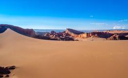 Αμμόλοφος σε Atacama Στοκ Εικόνες