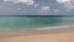 Αμμώδεις παραλία και θάλασσα Brandons, Bridgetown, Μπαρμπάντος απόθεμα βίντεο