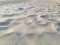 Αμμώδες υπόβαθρο πατωμάτων σύσταση της γκρίζας άμμου στην παραλία Στοκ Φωτογραφία