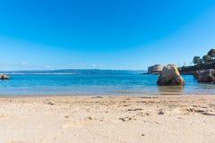 Αμμώδης ακτή σε Alghero στοκ εικόνες