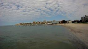 Αμμώδης ακτή της Κασπίας Θάλασσα απόθεμα βίντεο