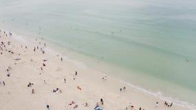 Αμμώδης παραλία θάλασσας απόθεμα βίντεο