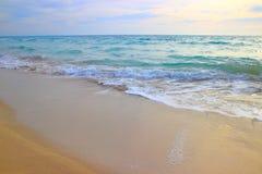 Αμμώδης παραλία, Apulia, Ιταλία Στοκ Εικόνα