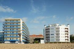 Αμμώδης παραλία Malgrat de Mar στοκ φωτογραφία