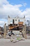 Αμμώδης συνέπεια τυφώνα στοκ εικόνα