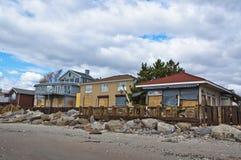Αμμώδης συνέπεια τυφώνα Στοκ εικόνες με δικαίωμα ελεύθερης χρήσης