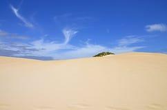 Αμμώδεις αμμόλοφος και μπλε ουρανός Στοκ φωτογραφία με δικαίωμα ελεύθερης χρήσης