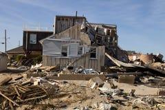 Αμμώδης ζημία τυφώνα στοκ εικόνες