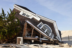 Αμμώδης ζημία τυφώνα Στοκ Φωτογραφίες