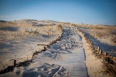 Αμμώδης διάβαση αμμόλοφων Στοκ Φωτογραφία