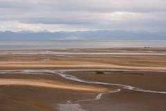 Αμμώδης κόλπος στο εθνικό πάρκο του Abel Tasman, Νέα Ζηλανδία Στοκ Φωτογραφίες