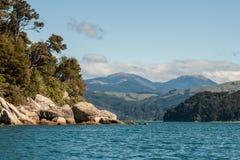 Αμμώδης κόλπος στο εθνικό πάρκο του Abel Tasman Στοκ Εικόνες