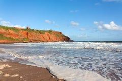 Αμμώδης κόλπος Exmouth Devon Στοκ φωτογραφία με δικαίωμα ελεύθερης χρήσης
