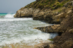 Αμμώδης μεσογειακή παραλία (Σικελία) Στοκ Φωτογραφία