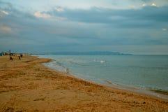 Αμμώδης παραλία σε Anapa Στοκ Εικόνα
