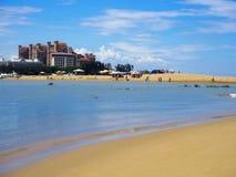 Αμμώδης παραλία σε Haikou, νησί Hainan, Κίνα Στοκ φωτογραφίες με δικαίωμα ελεύθερης χρήσης