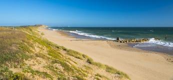Αμμώδης παραλία σε Hengistbury επικεφαλής Dorset Αγγλία κοντά στο Bournemouth Στοκ Φωτογραφία