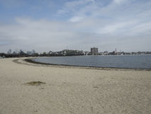 Αμμώδης παραλία στη Βοστώνη Μασαχουσέτη Στοκ φωτογραφία με δικαίωμα ελεύθερης χρήσης