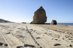 Αμμώδης παραλία στη νότια Ισπανία, Ευρώπη Στοκ Εικόνες