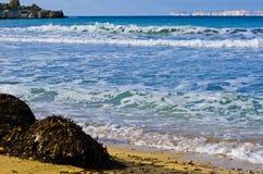 Αμμώδης παραλία το χειμώνα, Μάλτα Στοκ φωτογραφίες με δικαίωμα ελεύθερης χρήσης