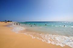 Αμμώδης παραλία Χαβάη Στοκ Εικόνες