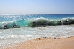 Αμμώδης παραλία Χαβάη Bodysurfing Στοκ φωτογραφίες με δικαίωμα ελεύθερης χρήσης