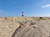 Αμμώδης παραλία Στοκ Εικόνες