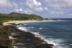 Αμμώδης παραλία Oahu Στοκ Εικόνα