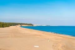 Αμμώδης παραλία Playa παραλιών που σχίζεται Διάστημα αντιγράφων για το κείμενο Στοκ φωτογραφία με δικαίωμα ελεύθερης χρήσης