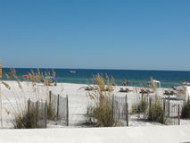 Αμμώδης σκηνή παραλιών, πορτοκαλιά παραλία, Αλαμπάμα Στοκ Εικόνες