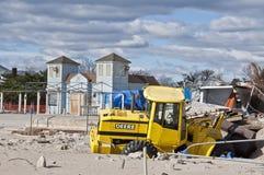 Αμμώδης συνέπεια τυφώνα Στοκ Εικόνες