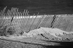 Αμμώδης φράκτης παραλιών Στοκ Εικόνα