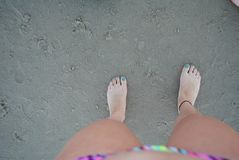 Αμμώδη πόδια Στοκ φωτογραφία με δικαίωμα ελεύθερης χρήσης