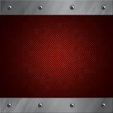 αμπαρωμένο αργίλιο κόκκινο πλαισίων ινών άνθρακα Στοκ εικόνες με δικαίωμα ελεύθερης χρήσης