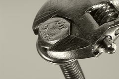 αμπαρώστε το γαλλικό κλειδί στοκ φωτογραφία με δικαίωμα ελεύθερης χρήσης