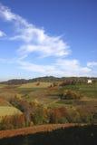 αμπελώνας τοπίων φθινοπώρ&omic Στοκ φωτογραφία με δικαίωμα ελεύθερης χρήσης