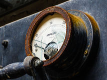 Αμπερόμετρο που χαρακτηρίζει το καταπληκτικό γυαλί Στοκ Φωτογραφία