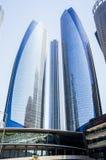 Αμπού Νταμπί Καλοκαίρι 2016 Ουρανοξύστες στη σύγχρονη μητρόπολη του αραβικού πολιτισμού στις ακτές του αραβικού Κόλπου στοκ εικόνες