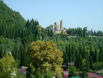 Αμπχαζία, νέο μοναστήρι Athos Στοκ φωτογραφία με δικαίωμα ελεύθερης χρήσης