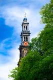ΑΜΣΤΕΡΝΤΑΜ, ΚΑΤΩ ΧΏΡΕΣ - 20 ΑΥΓΟΎΣΤΟΥ 2012: Δυτική εκκλησία (Westerker στοκ εικόνα με δικαίωμα ελεύθερης χρήσης