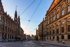 ΑΜΣΤΕΡΝΤΑΜ, ΟΙ ΚΑΤΩ ΧΏΡΕΣ - 10 ΙΟΥΝΊΟΥ 2014: Όμορφα sreets του Άμστερνταμ τη θερινή ημέρα Στοκ φωτογραφίες με δικαίωμα ελεύθερης χρήσης