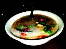 αμυδρό ποσό Σούπα θαλασσινών και ρυζιού Στοκ εικόνα με δικαίωμα ελεύθερης χρήσης