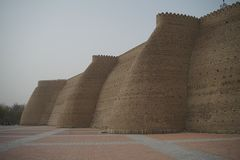 Αμυντικοί τοίχοι του κάστρου Μπουχάρα usbekistan Ασία κιβωτών στοκ φωτογραφία με δικαίωμα ελεύθερης χρήσης