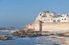 αμυντικοί τοίχοι του Μαρόκου essaouira Στοκ Εικόνες