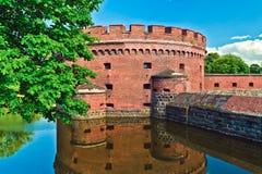 Αμυντικός πύργος Dona. Kaliningrad (μέχρι το 1946 Konigsberg), Ρωσία Στοκ Φωτογραφίες