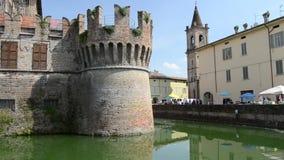 Αμυντικός τάφρος Sanvitale Castel στην πόλη Fontanellato, Πάρμα, Ιταλία φιλμ μικρού μήκους