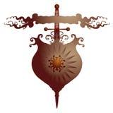 αμυντικό κομψό σύμβολο Στοκ φωτογραφία με δικαίωμα ελεύθερης χρήσης