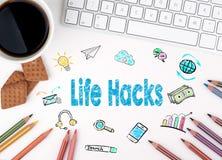 Αμυχές ζωής, επιχειρησιακή έννοια λευκό Ιστού γραφείων γραφείων επιχειρηματιών περιοδείας Στοκ εικόνα με δικαίωμα ελεύθερης χρήσης